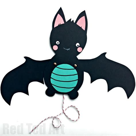 bat craft for bat paper puppet ted s