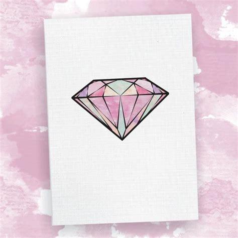 watercolor tattoo diamond card watercolour illustration birthday card