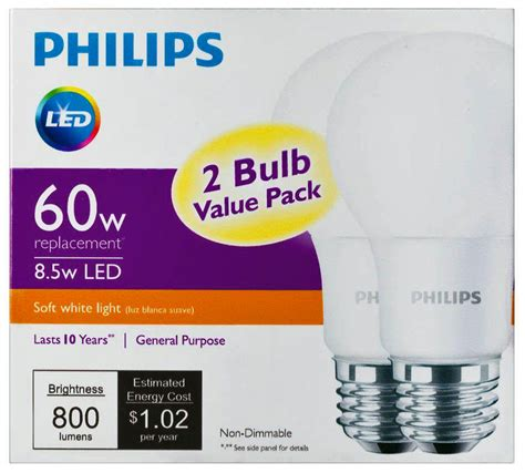 replace your existing bulbs with philips led bulbs for