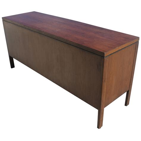 65 quot vintage steelcase walnut credenza file cabinet ebay