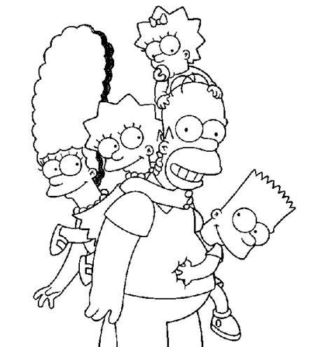 Simpsons Coloring Pages Coloring Pages To Print Simpsons Coloring Pages