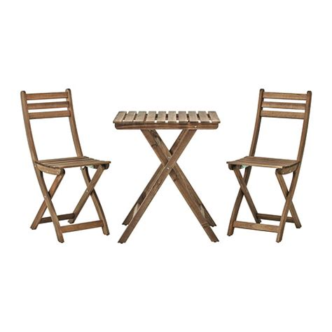 Small Patio Table And 2 Chairs Askholmen Table 2 Chairs Outdoor Ikea