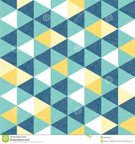 fabric pattern repeat definition vector blue and yellow triangle texture seamless repeat