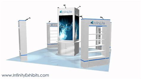 trade show display shelving 20ft x 20ft island trade show display booth with center