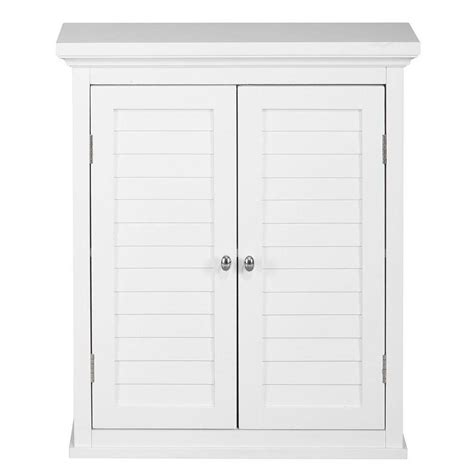 Bathroom Storage Cabinets With Doors Home Fashions Simon 20 In W X 24 In H X 7 In D Bathroom Storage Wall Cabinet With 2