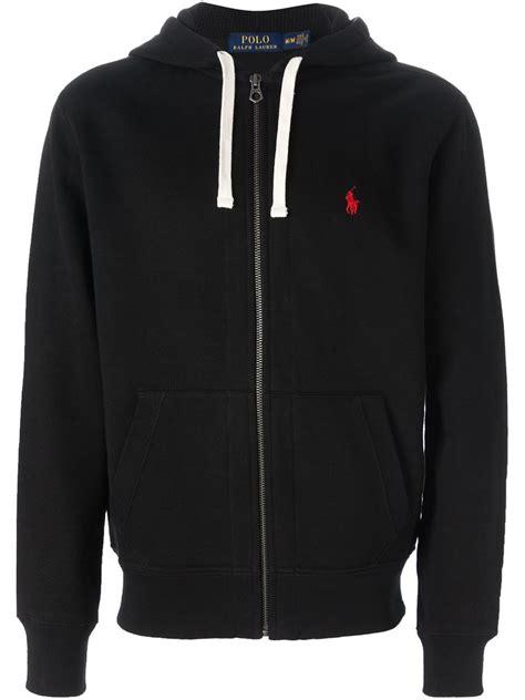 Polos Zip Hoodie polo ralph zip up hoodie in black for lyst