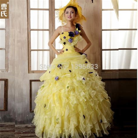Ballgown Bridal Dress Pesta 19 buy wholesale pale yellow wedding dresses from