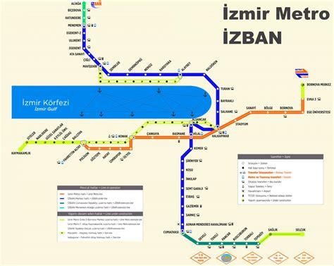?zmir ?ZBAN and metro map
