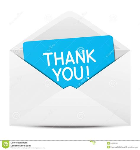 Thank You Letter Envelope paper envelope with thanks stock vector image 54031193