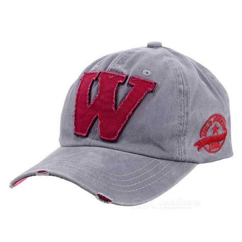 fashionable unisex w baseball cap vintage hat grey
