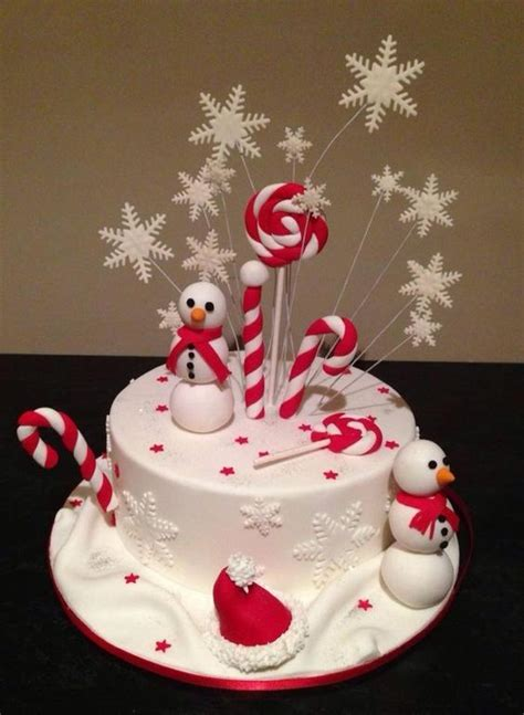 christmas cake decor love it christmas cakes