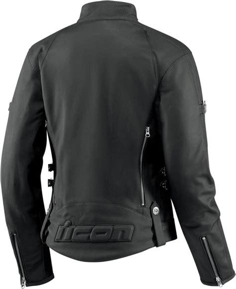black riding jacket icon hella women s leather motorcycle riding jacket black