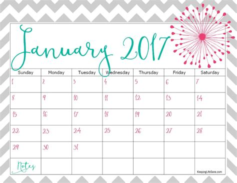 printable calendar 2017 free free 2017 calendar for you to print keeping life sane