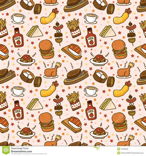 food pattern photography seamless fast food pattern download from over 28 million