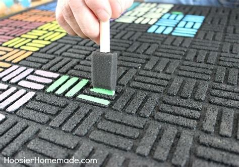 Creative Door Mats How To Paint A Recycled Rubber Outdoor Mat Creative