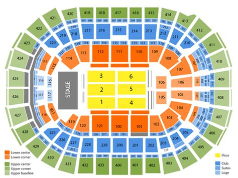 verizon center wizards seating view verizon center seating chart and tickets formerly