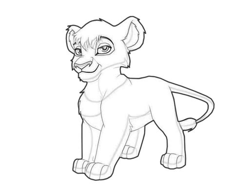lion king kopa coloring pages vitani character lean printing