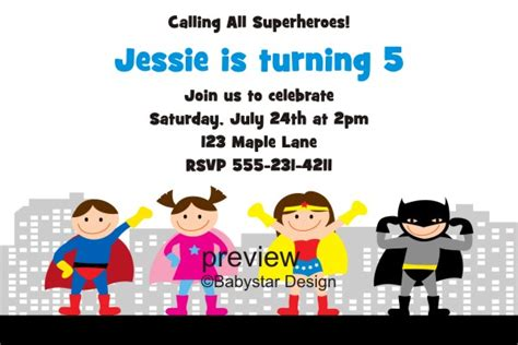 superhero invitations template best template collection