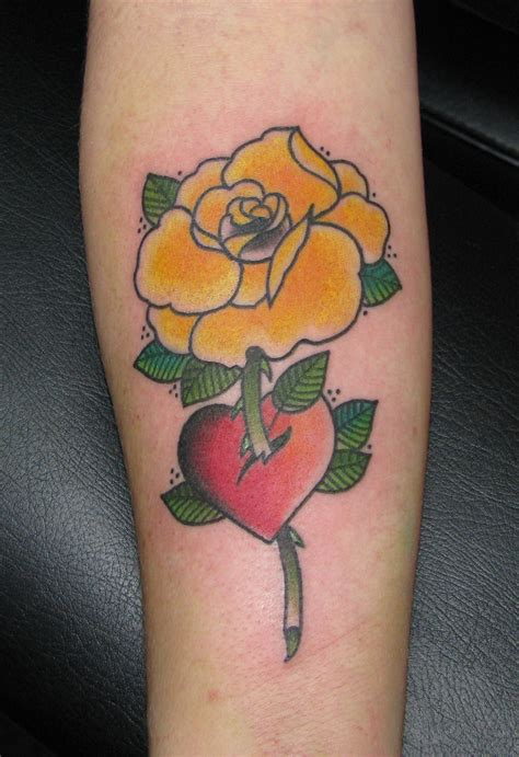 small yellow rose tattoo yellow purr