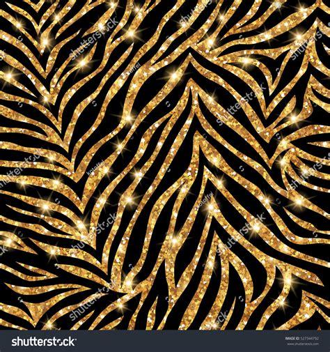 zebra pattern gold seamless gold zebra pattern vector illustration stock