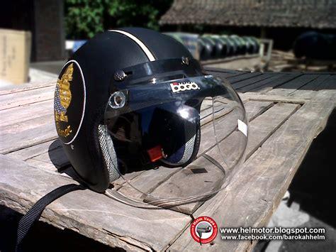 Helm Vespa Classic Retro Kaca Bogo Hijau Lime Hitam helm bogo semar helm vespa