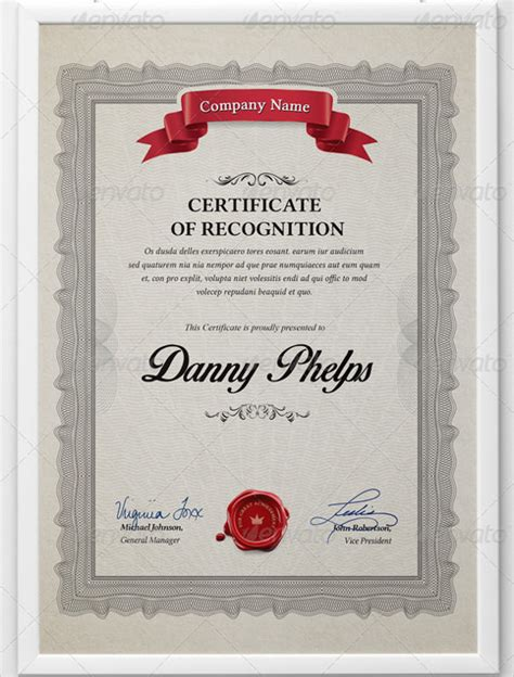 certificate of recognition template 14 download free