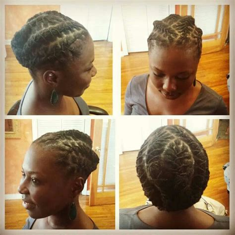 short dread pin downs and pin ups short loc style loc motivation pinterest locs