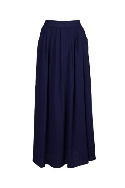 navy blue chiffon pleated maxi skirt your one stop
