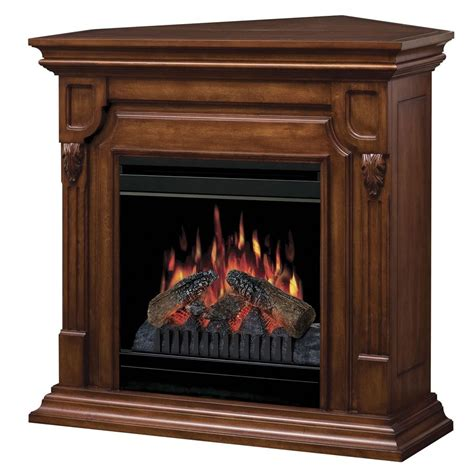 Lowes Corner Fireplace by Shop Dimplex 36 75 In W 5 120 Btu Burnished Walnut Wood