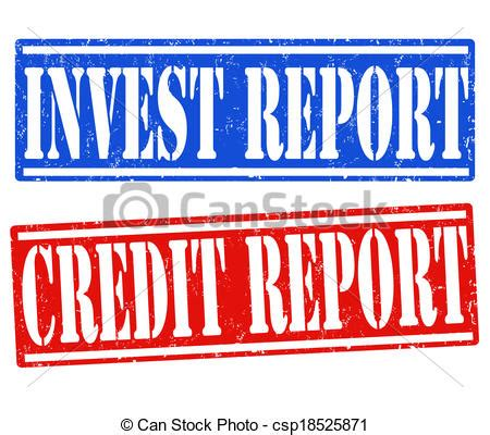doodle free credit report vectors illustration of invest report and credit report
