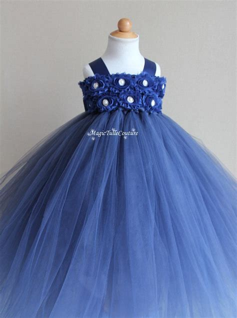 Dress Tutu White Blue Flower 4 6 Th Include Headbandgelangcincin navy blue flower tutu dress toddler dress birthday dress 1t2t3t4t5t6t7t8t9t10t