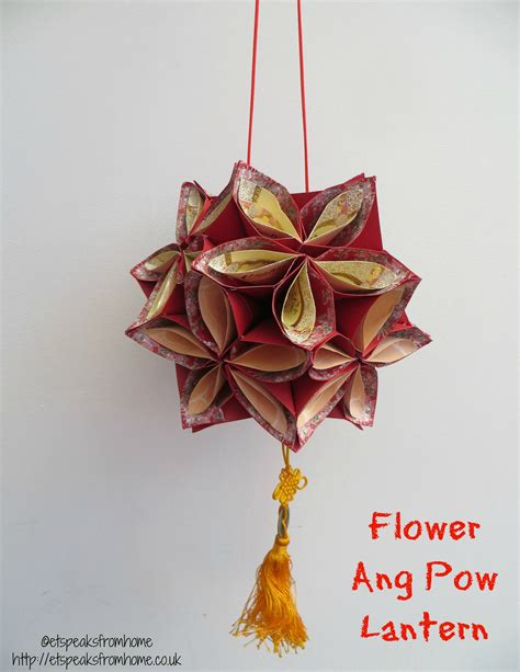 origami new year decorations ang pow flower lantern flower craft and origami