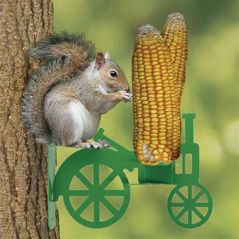 duncraft com corn on the tractor squirrel feeder