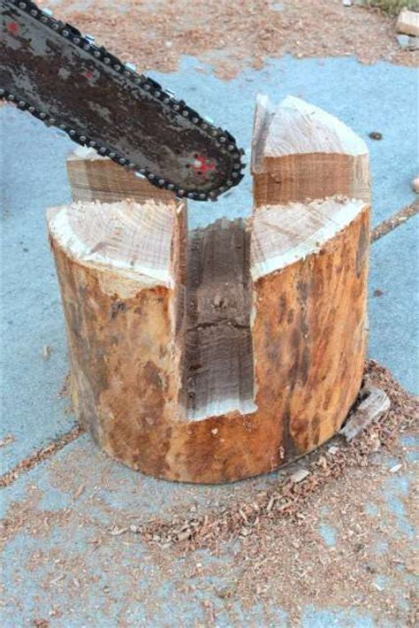wood stump stool diy wood stool with chainsaw confecci 243 n muebles