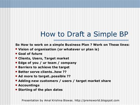 effective business plan template a simple but effective business plan