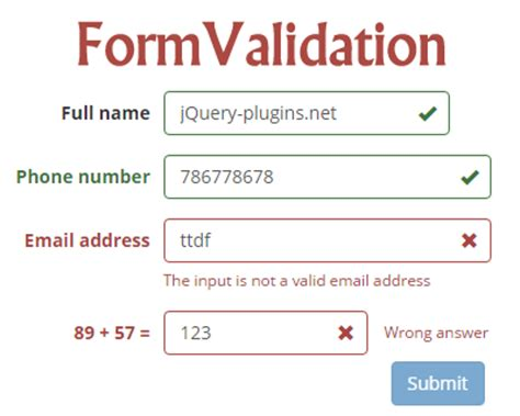 jquery validation pattern attribute validation category jquery plugins