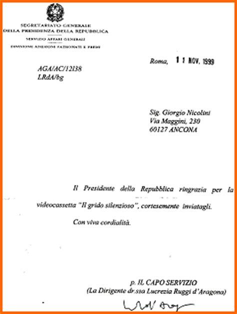 inizio lettere formali lettera inviata all