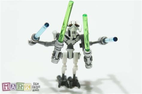 Lego Original Parts new wars lego general grievous mini figure minifig with 4 light sabres mad about bricks