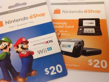 Nintendo E Gift Card - free 40 nintendo e shop gift card codes video game prepaid cards codes listia