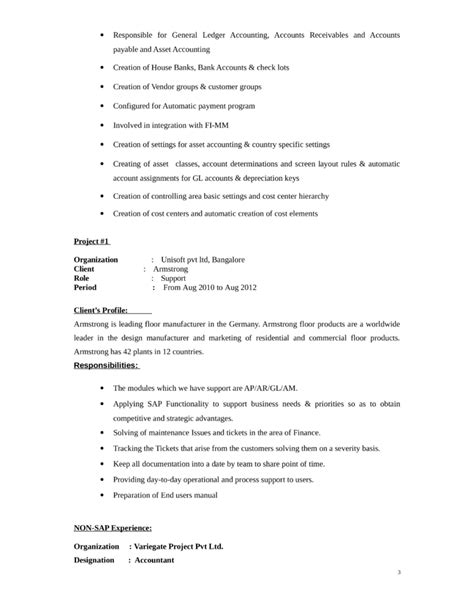 Sle Accounting Resume by General Ledger Accountant Resume Sle 28 Images General