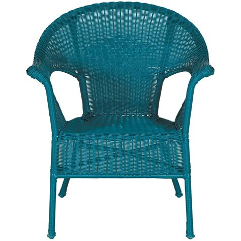 Wicker Vases Resin Wicker Arm Chair In Teal Cw 12282 Teal Chi Wing Afw