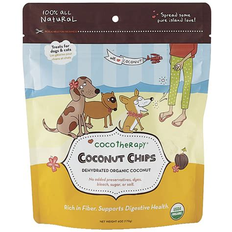coconut for dogs cocotherapy coconut chips for dogs naturalpetwarehouse