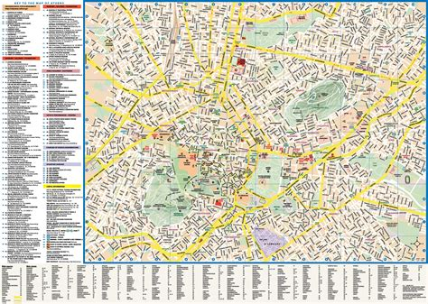 map for tourists athens tourist attractions map