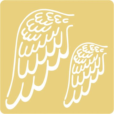 Embossing stencils, 65x65mm, angel wings   Hobby, Crafts