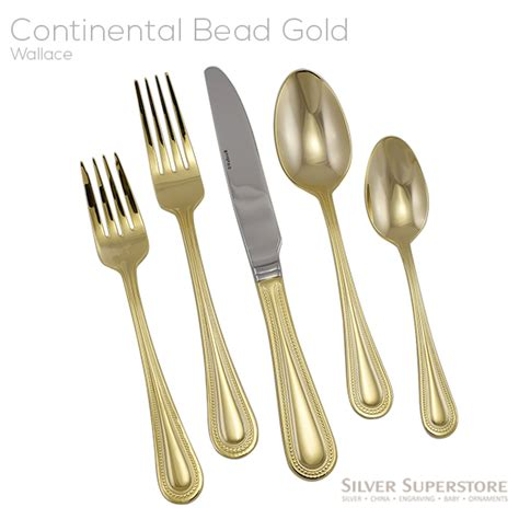 wallace continental bead wallace continental bead gold stainless steel flatware
