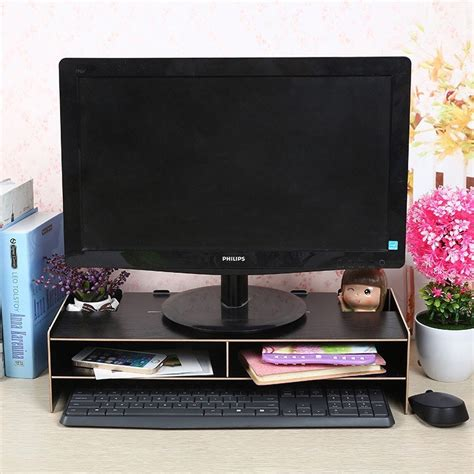 Rak Komputer Bahan Kayu rak desktop storage pc komputer meja kayu laptop notebook