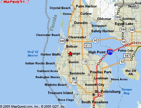 map of clearwater florida clearwater florida map