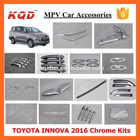 Outer Handle All New Innova 2016 Black Chrome T2709 2016 innova toyota chrome kits abs plastic car exterior accessories chrome kit buy car