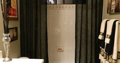 shower curtain height from floor make a small room look bigger hang curtains from top of