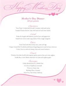 mothers day banner menu mother s day menus